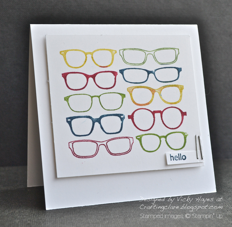 Glasses stamped with Spec-tacular by Stampin' Up