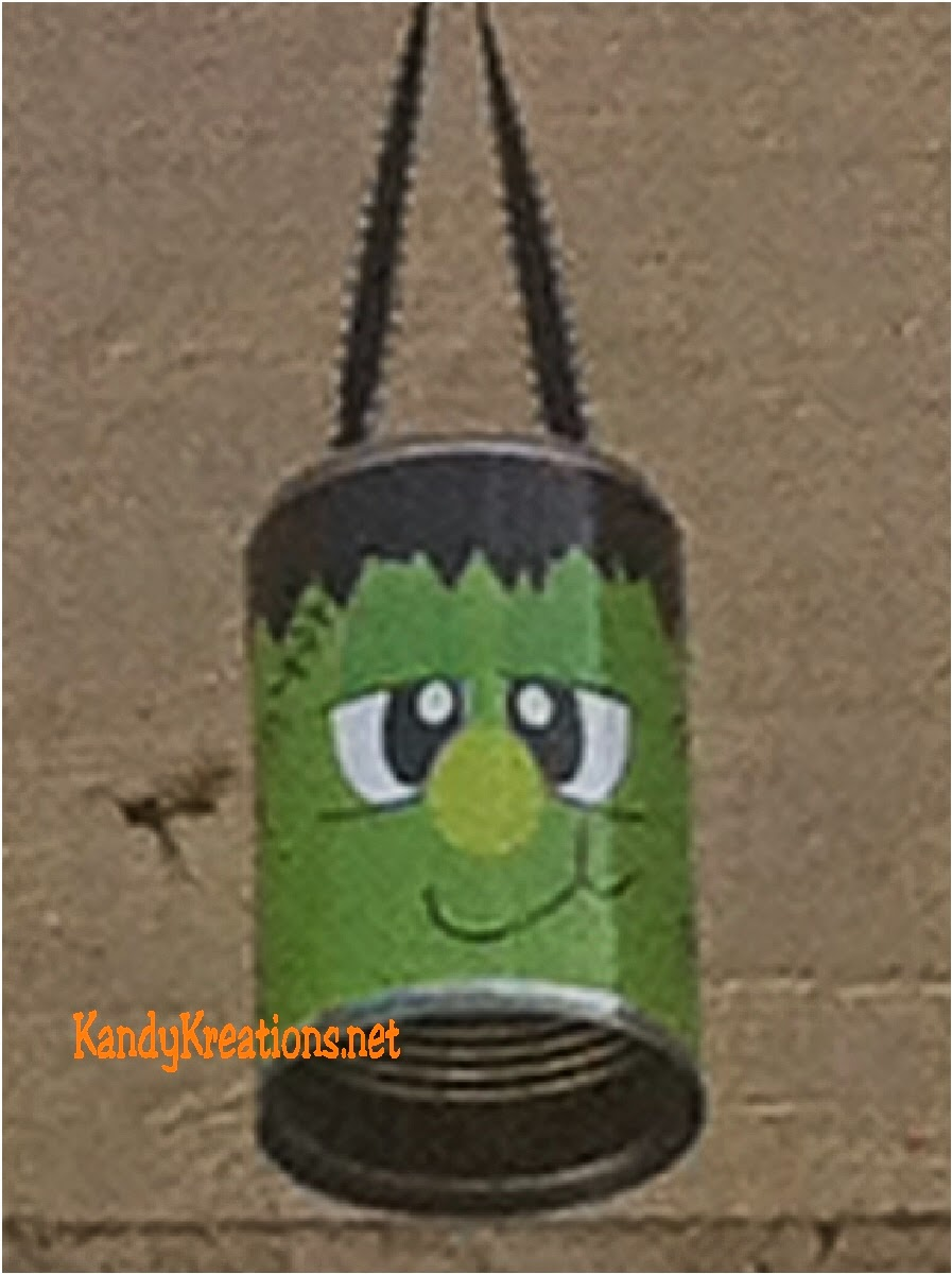 Looking for easy Halloween decorations? How about these free printables Halloween monsters using tin cans.  These easy tin can crafts can be used for Halloween games, halloween mantel decorations, or treat holders for your little ghouls.