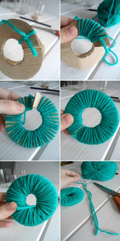 Lalole blog c mo hacer pompones de lana - Como hacer pompones de lana rapido ...