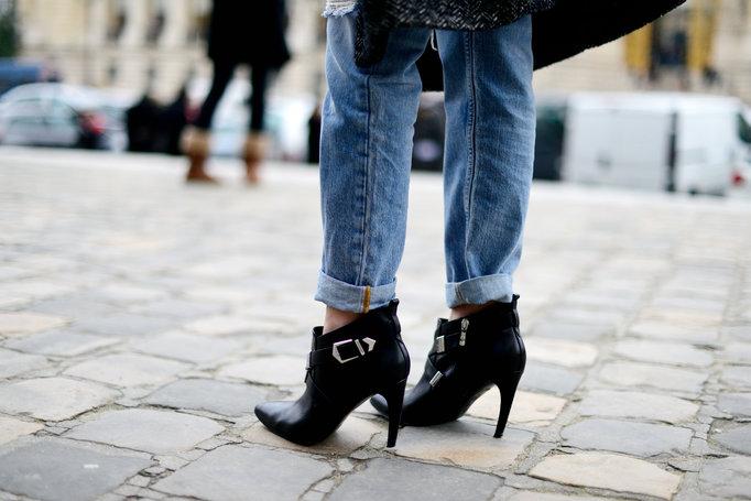 Elin Kling boots x boyfriend jeans