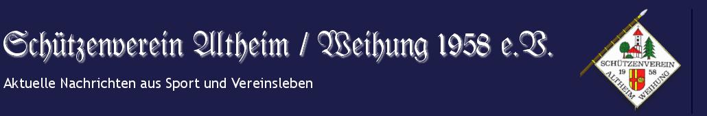 Schützenverein Altheim / Weihung