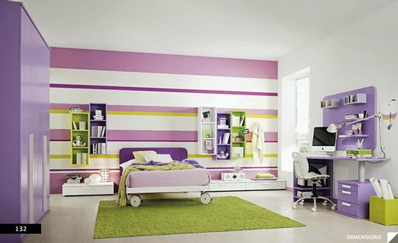 Dr les chambres color es pour les enfants d cor de for Chambre a coucher enfants