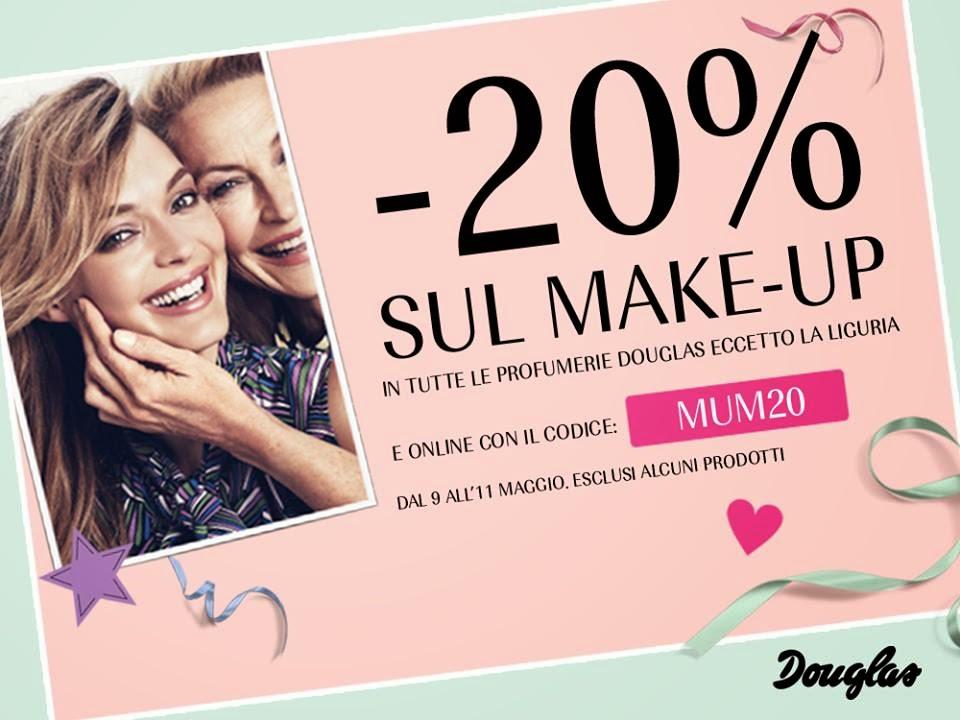 Douglas - Sconto 20% su tutto il make-up