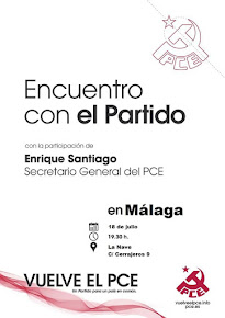 Ecuentro con el Partido en Málaga. Enrique Santiago, Secretario general del PCE