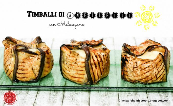 timballi di anelletti con melanzana - anelletti timbales in aubergine crust
