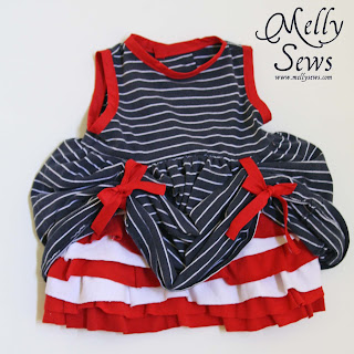 DIY Fourth of July Baby Dress Tutorial - Melly Sews
