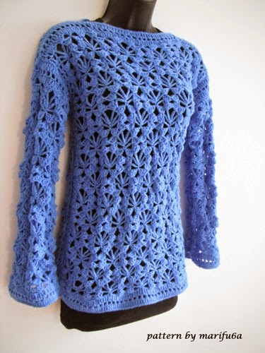Crochet Patterns Sweater : crochet patterns and video tutorials: how to crochet pullover, sweater ...