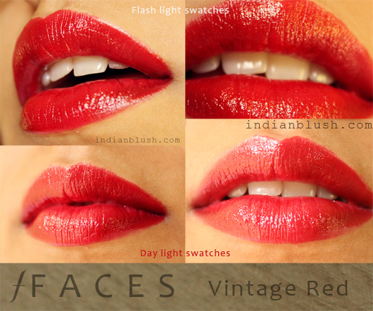 FACES Glam On Vintage Red Lipstick - Review Swatches