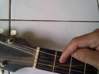 cara memasang senar gitar agar rapi