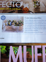 MIS CAJAS DECORADAS EN LA REVISTA EL MUEBLE