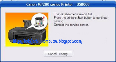 Laptop Review Blog Cara Reset Printer Canon Mp287 Yang Error