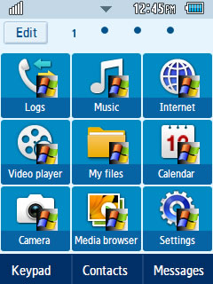 General Windows XP Samsung Corby 2 Theme Menu