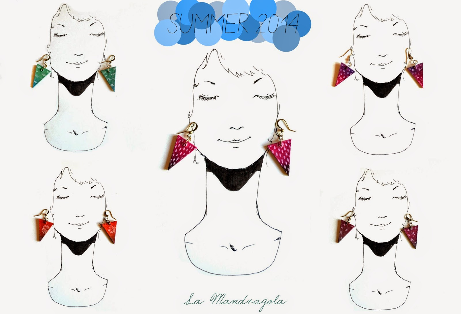 la mandragola-summer-earrings-colorful-handmade-finnboard-inked