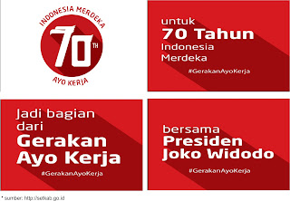 Logo HUT RI 70th