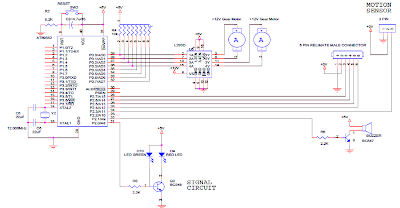 Circuit diagram Automatic Railway Crossing System