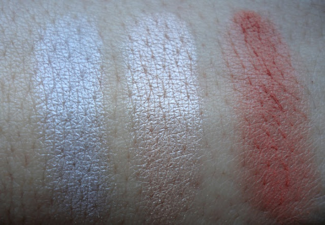 Swatches of NARS Ramatuelle in various lights