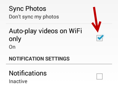 disable facebook autoplay videos