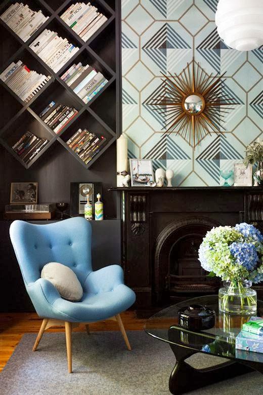 diseño de interiores guatemala, librera, wallpaper