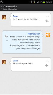 Easy: Conversation threads with NuffnangX