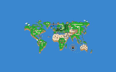Funny Super Mario World Map HD Wallpaper