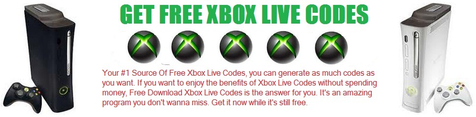 GET FREE XBOX LIVE CODES
