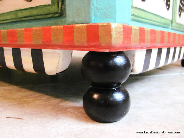furniture feet made from wooden spindle