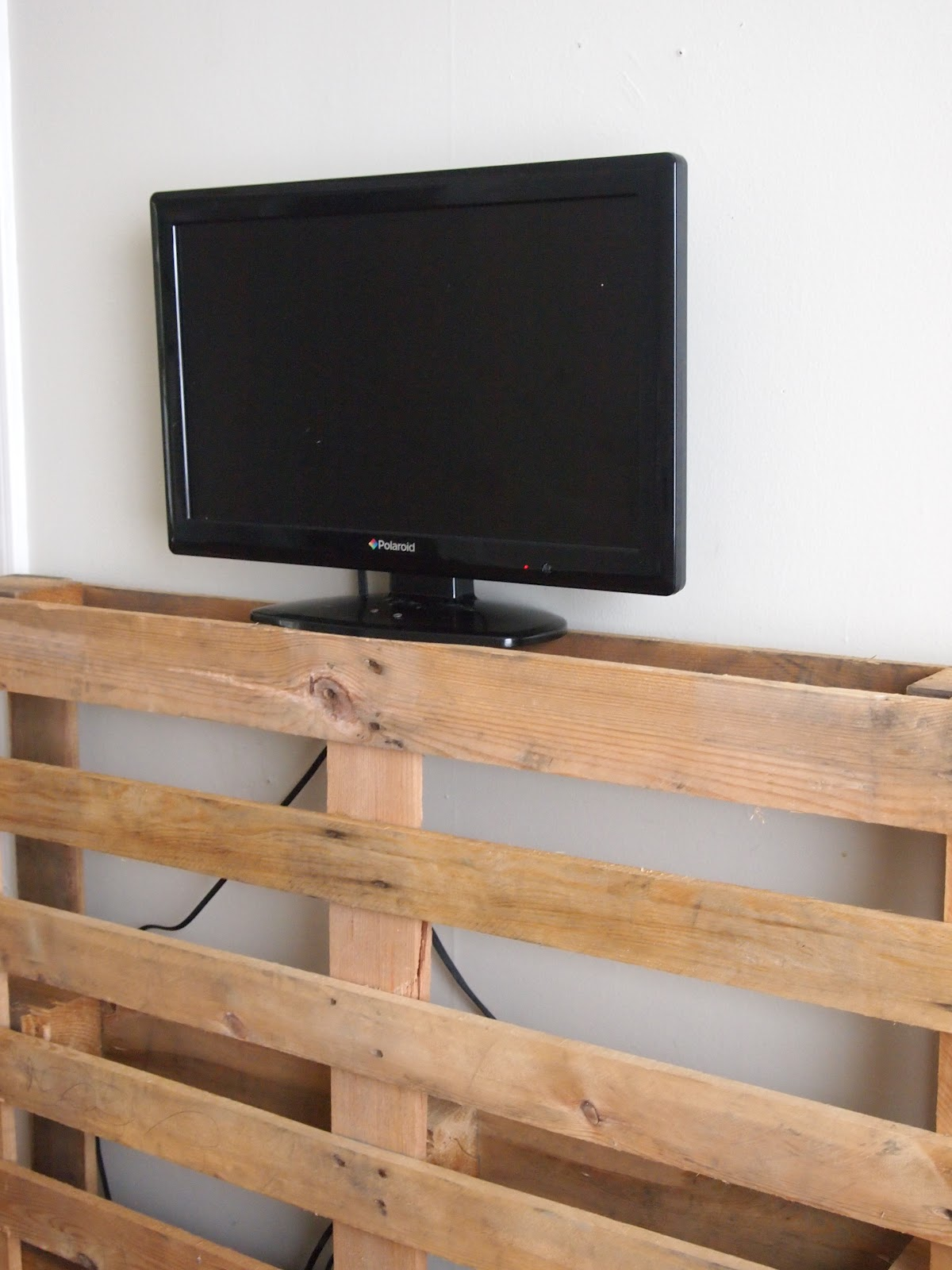 Sweet Swan Songs Our Living Room Pallet TV Stand