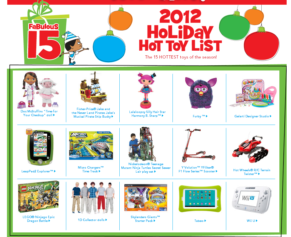 Toys R Us Toy List : Toys 'r us hot toy list announced reserve yours now