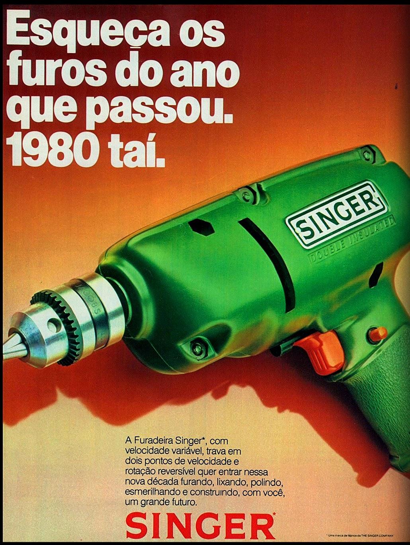 Singer. 1979; os anos 70; propaganda na década de 70; Brazil in the 70s, história anos 70; Oswaldo Hernandez;