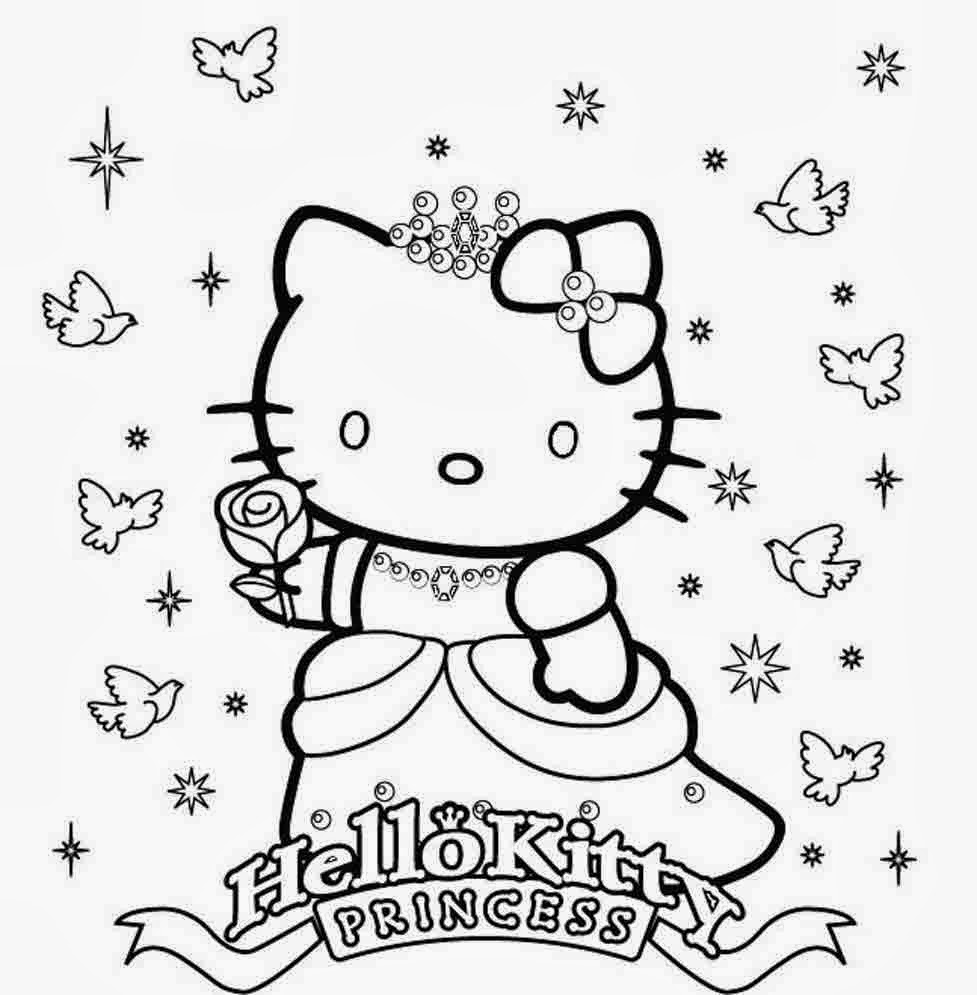 printable coloring pages of hello kitty