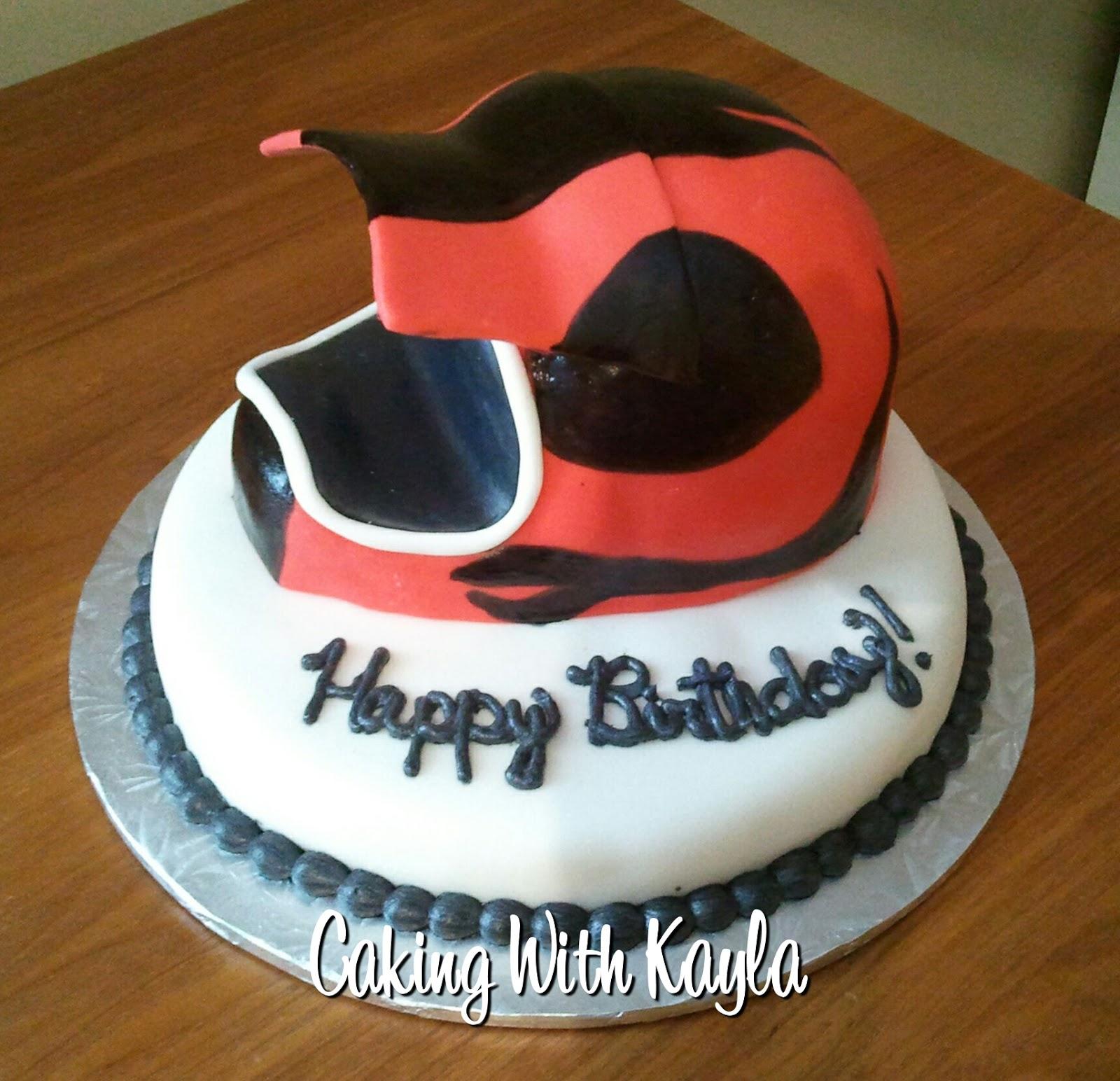 Caking with Kayla Motocross Helmet Cake