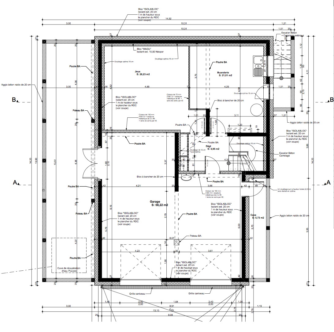 Notre maison en haute garonne les plans for Plan maison exterieur