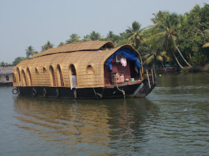Kettuvallam(Boathouse) on the Backwaters.