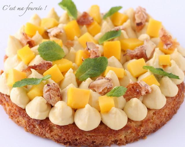 Cake Fruit Avec Gla Ef Bf Bdage Miroir