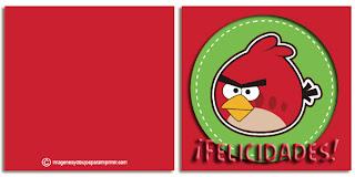 Felicitaciones de angry birds para imprimir