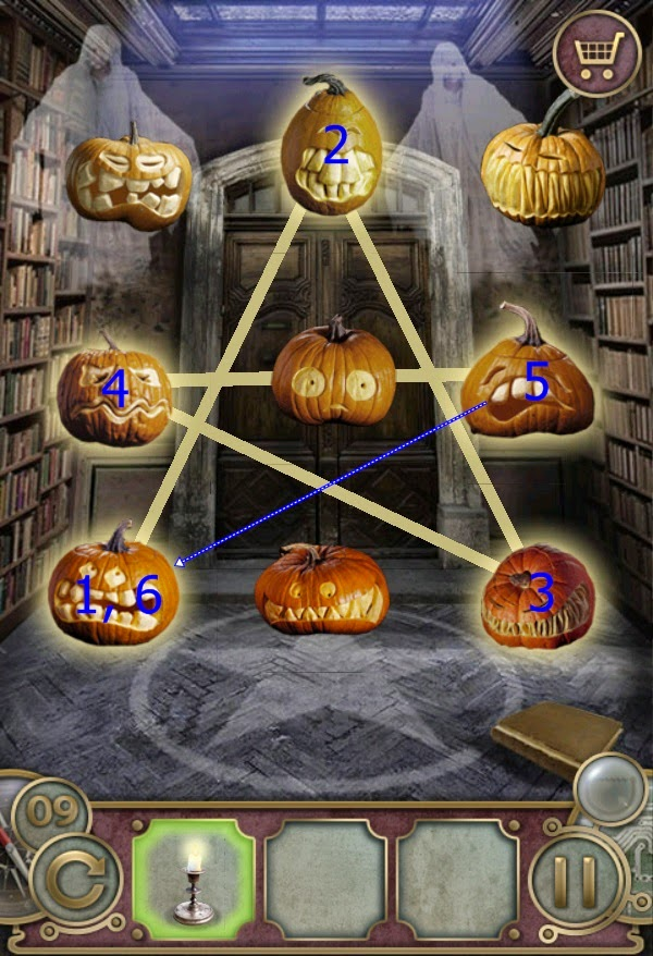 Escape the Mansion Halloween Level 6 7 8 9 10 Solution
