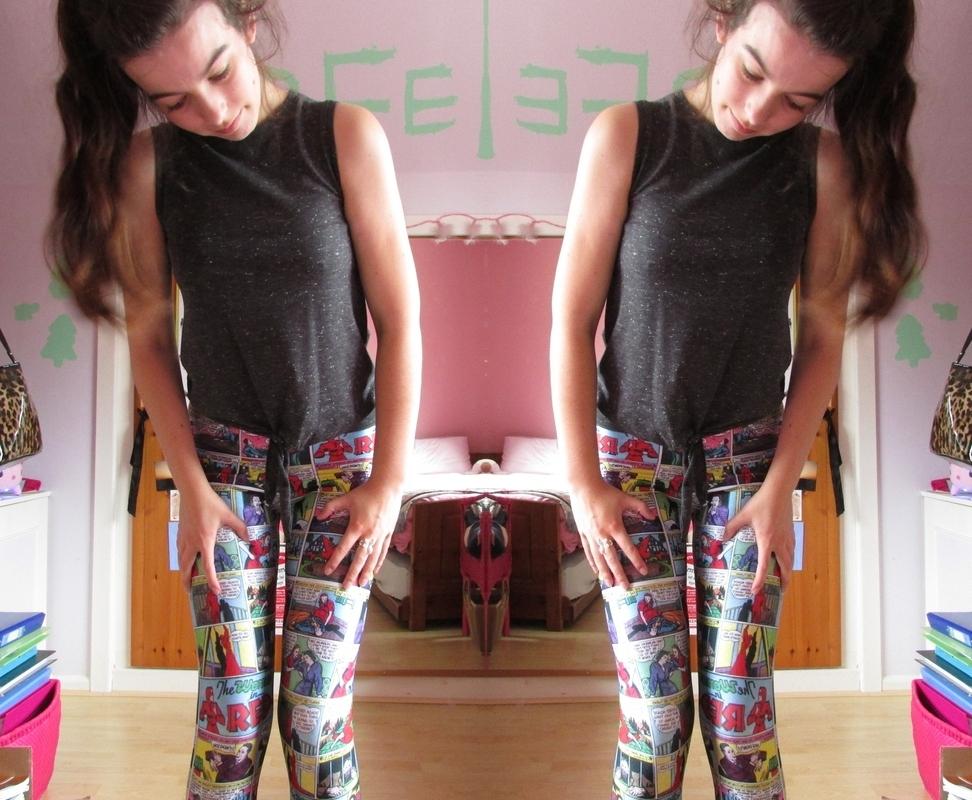 Amber love OOTD || Black Milk Leggings and Dr Martens