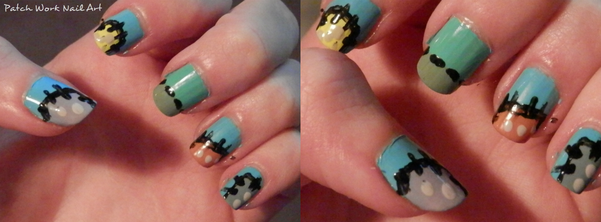 How to do patch work nail art.
