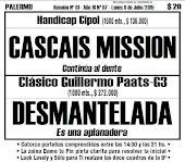 Todo A Ganador - 6/07 - Palermo - Clásico Guillermo Paats-G3 - Oposición DESMANTELADA