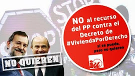 No al Recurso del PP contra el Decreto Antidesahucios de IU