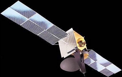 Gambar satelit IndoStar II yang merupakan generasi baru pemancar siaran televisi satelit Indovision.