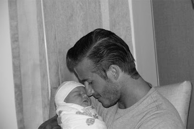 David Beckham Tweets and Posts Baby Pics on Twitter and Facebook