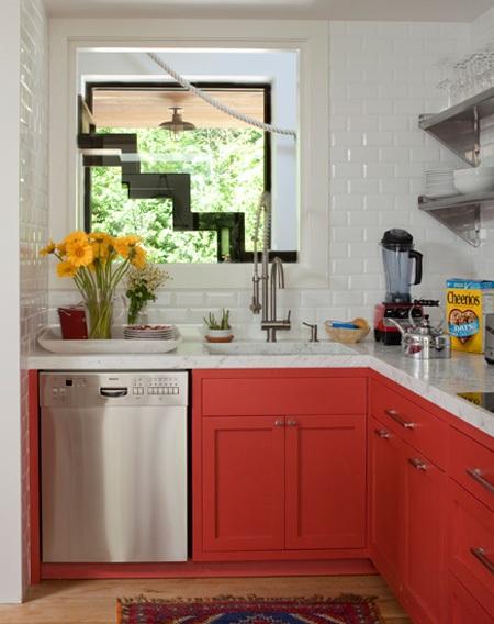 Ideas de Decoraci?n de Cocinas en Color CORAL  DECORAR, DISE?AR Y