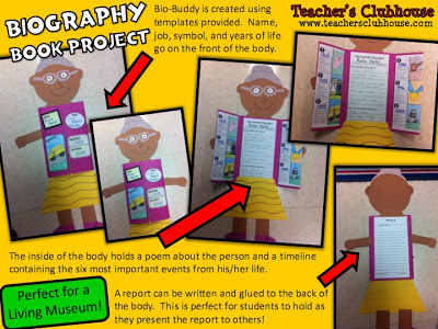 book report projects for biographies