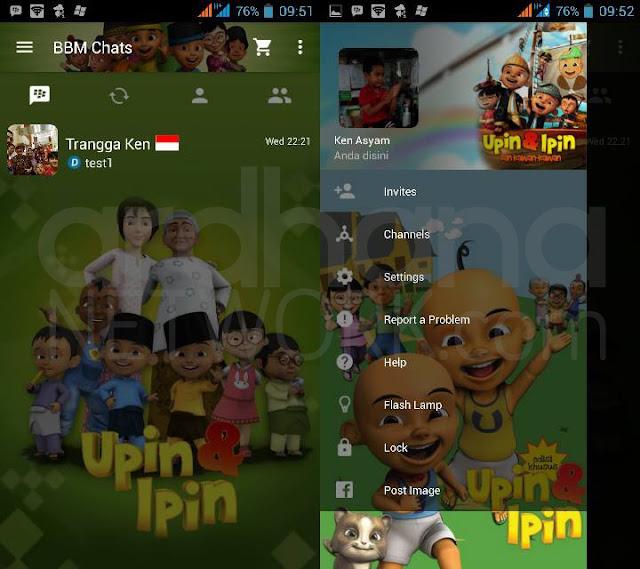 Preview BBM Upin & Ipin - BBM Android V2.10.0.35