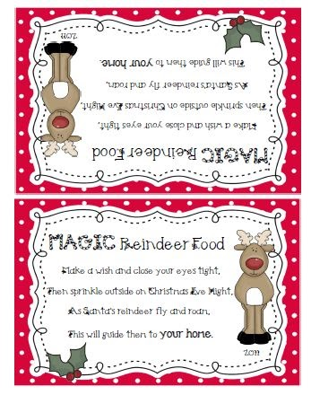 Invaluable image with reindeer food labels printable