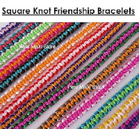 Friendship bracelets, square knot