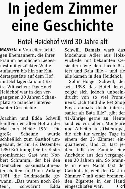 Bericht aus dem Hellweger Anzeiger Unna vom 17.10.2010