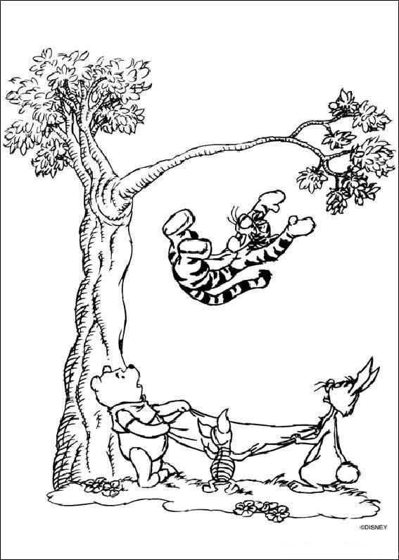 dessin winnie l'ourson à imprimer et colorier gratuitement