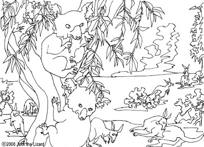 Animal Koala Bear Coloring Page